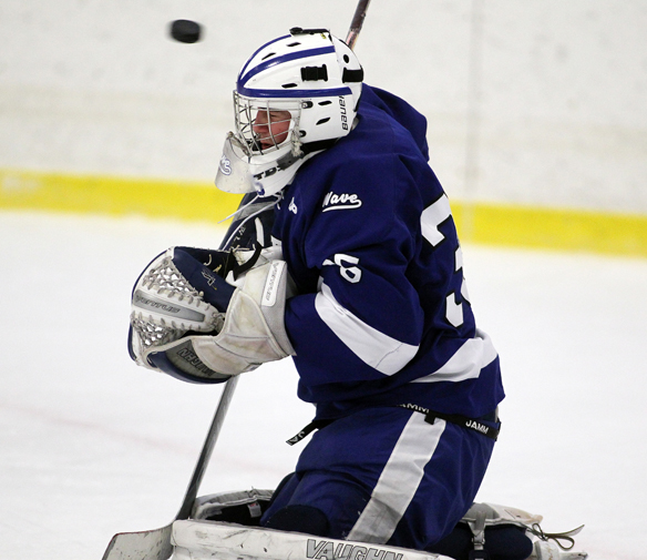 Goaltender Will Massie has been the backbone of Darien's vaunted defense. (Photo: J. Gregory Raymond)